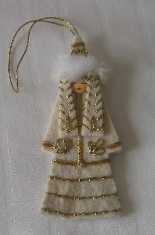Kazakh Doll Ornament