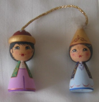 Kazakh Dolls Ornament